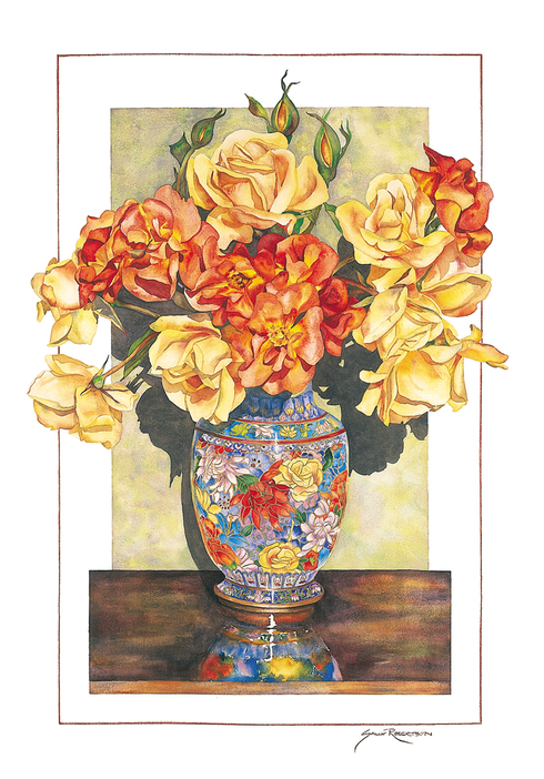 Cloisonne Roses by Sally Robertson